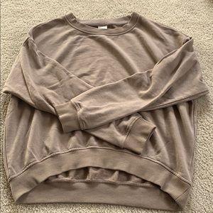 Brown H&M crew neck sweatshirt